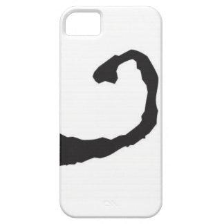Sonrisa de la mancha blanca /negra de la tinta iPhone 5 Case-Mate protector