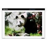 Sonrisa de la panda portátil 43,2cm skin