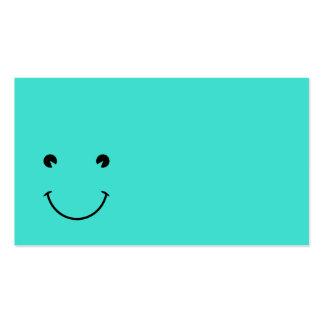 Sonrisa de la turquesa tarjetas de visita