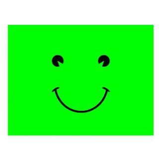 Sonrisa de la verde lima postales