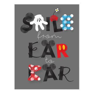 Sonrisa de Mickey Mouse el   del oído al oído Postal
