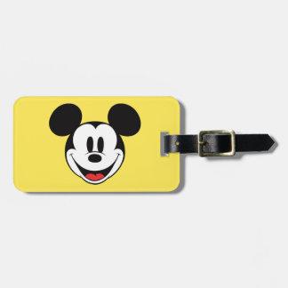 Sonrisa de Mickey Mouse Etiqueta De Equipaje