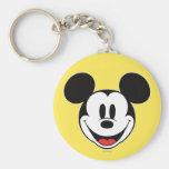 Sonrisa de Mickey Mouse Llavero Redondo Tipo Pin