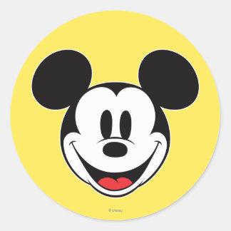 Sonrisa de Mickey Mouse Pegatina Redonda