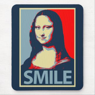 Sonrisa de Mona Lisa Alfombrilla De Raton