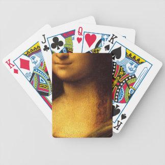 Sonrisa de Mona Lisa del ~ de los naipes Cartas De Juego