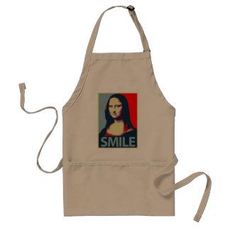 Sonrisa de Mona Lisa Delantal