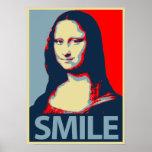 Sonrisa de Mona Lisa Posters