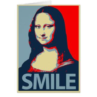 Sonrisa de Mona Lisa Tarjeta De Felicitación