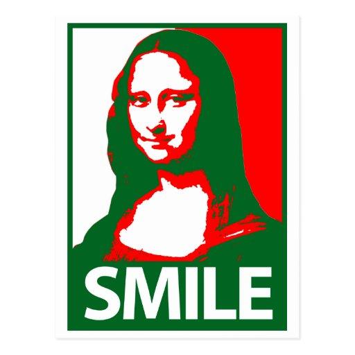Sonrisa de Mona Lisa Tarjeta Postal