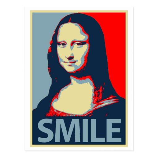 Sonrisa de Mona Lisa Tarjetas Postales