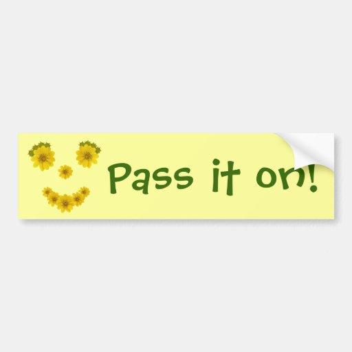Sonrisa de parachoques etiqueta de parachoque
