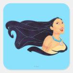 Sonrisa de Pocahontas Pegatina Cuadrada