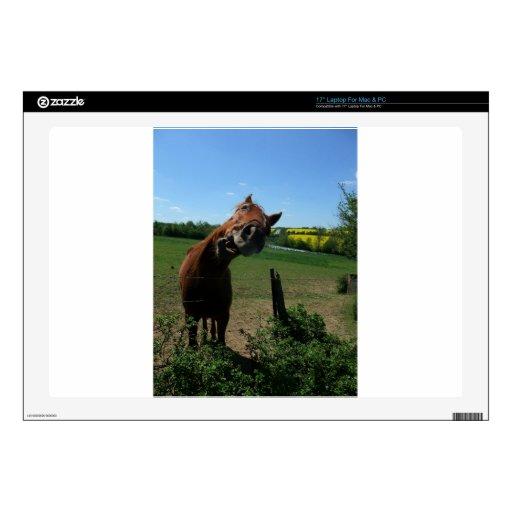 Sonrisa de un frente del caballo de un campo de la skins para 43,2cm portátil