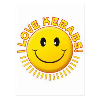 Sonrisa del amor de Kebabs Postal