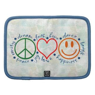 Sonrisa del amor de la paz planificador
