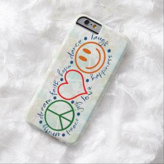 Sonrisa del amor de la paz funda barely there iPhone 6