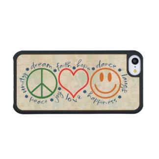 Sonrisa del amor de la paz funda de iPhone 5C slim arce