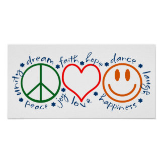 Sonrisa del amor de la paz poster