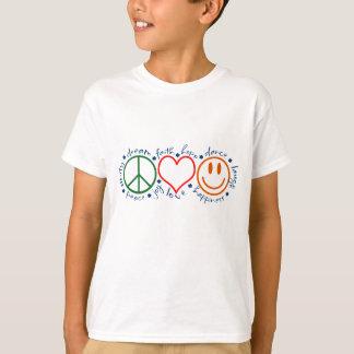 Sonrisa del amor de la paz playera