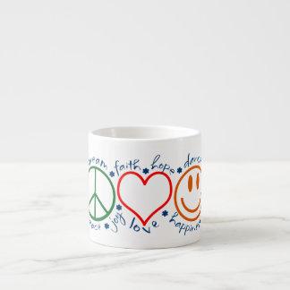 Sonrisa del amor de la paz taza espresso