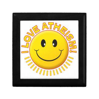 Sonrisa del amor del ateísmo cajas de joyas