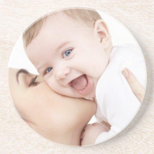 sonrisa del bebé posavaso para bebida