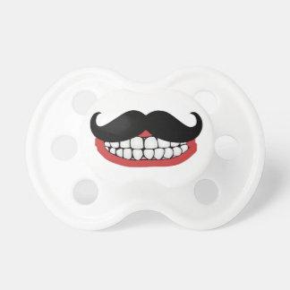 Sonrisa del bigote chupetes de bebe