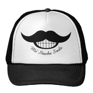 Sonrisa del bigote gorras de camionero