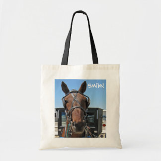 ¡Sonrisa del caballo de Amish! Bolsa Tela Barata