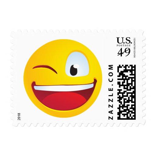 Sonrisa del centelleo sello