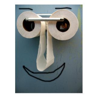 sonrisa del cuarto de baño tarjeta postal