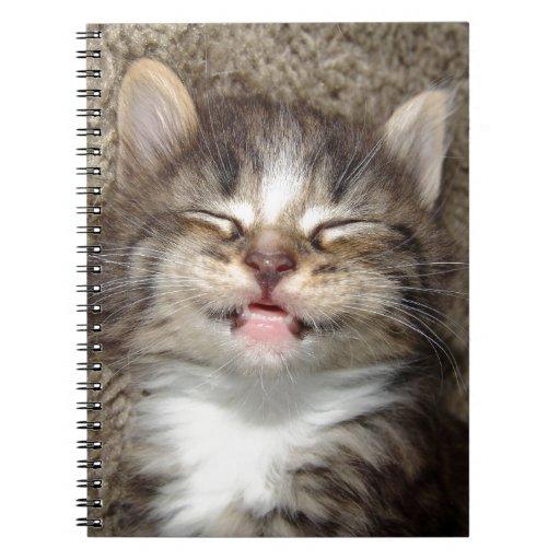 Sonrisa del gatito cuadernos