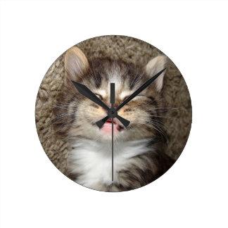 Sonrisa del gatito reloj