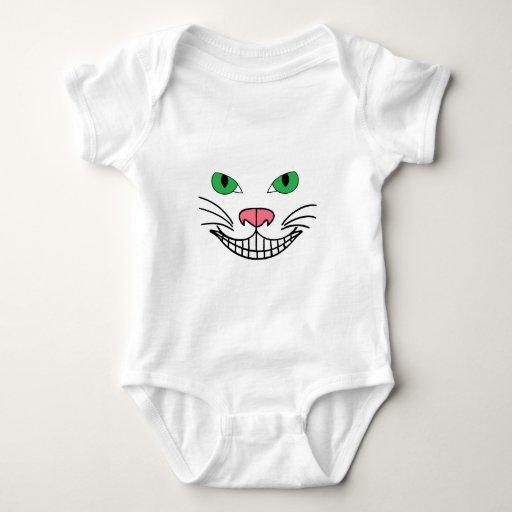 ¡Sonrisa del gato! Body Para Bebé
