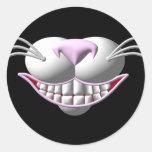 Sonrisa del gato de Cheshire Pegatinas Redondas