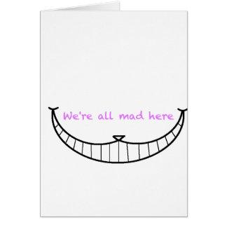 Sonrisa del gato de Cheshire Tarjeta De Felicitación