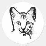 Sonrisa del gato pegatina redonda