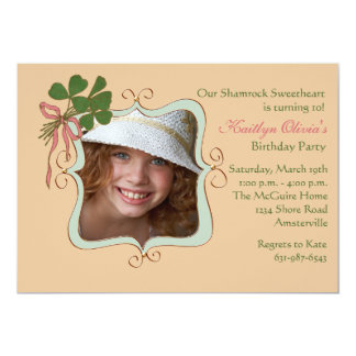 Sonrisa del irlandés - invitación de la fiesta de