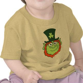 Sonrisa del Leprechaun del día del arroz del St Camisetas