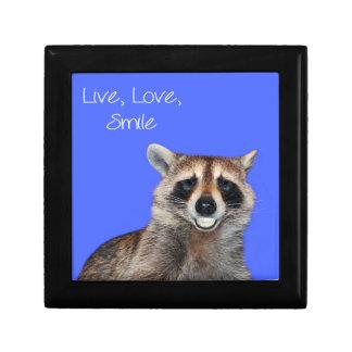 Sonrisa del mapache cajas de recuerdo