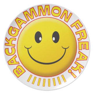 Sonrisa del monstruo del backgammon platos para fiestas
