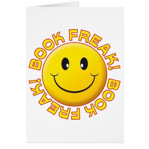 Sonrisa del monstruo del libro felicitacion