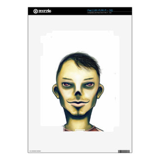 Sonrisa del muchacho del zombi iPad 2 calcomanía