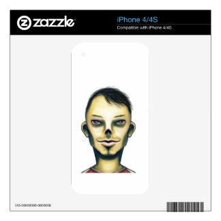Sonrisa del muchacho del zombi skin para el iPhone 4S