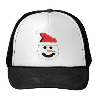 Sonrisa del muñeco de nieve gorras
