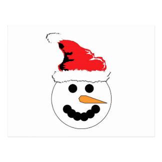Sonrisa del muñeco de nieve postal