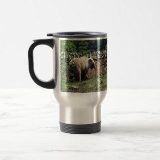 Sonrisa del oso grizzly; Personalizable Taza Térmica