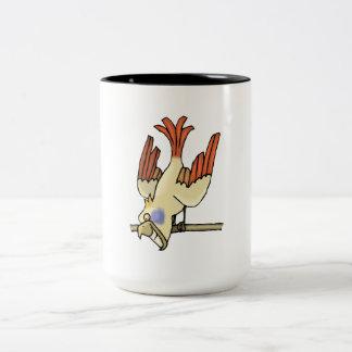 Sonrisa del pájaro tazas de café