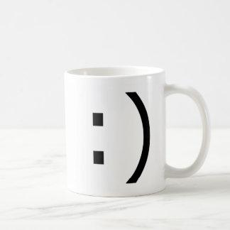 Sonrisa del texto (común) tazas